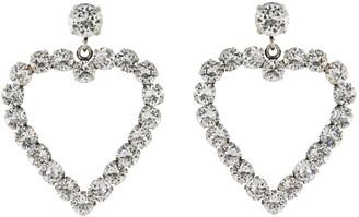 Philippe Audibert 'Cur' Swarovski crystal cutout heart drop earrings