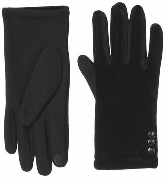 Urban Outfitters UNDER ZERO Womens Winter Touch Screen Black Velveted Gloves