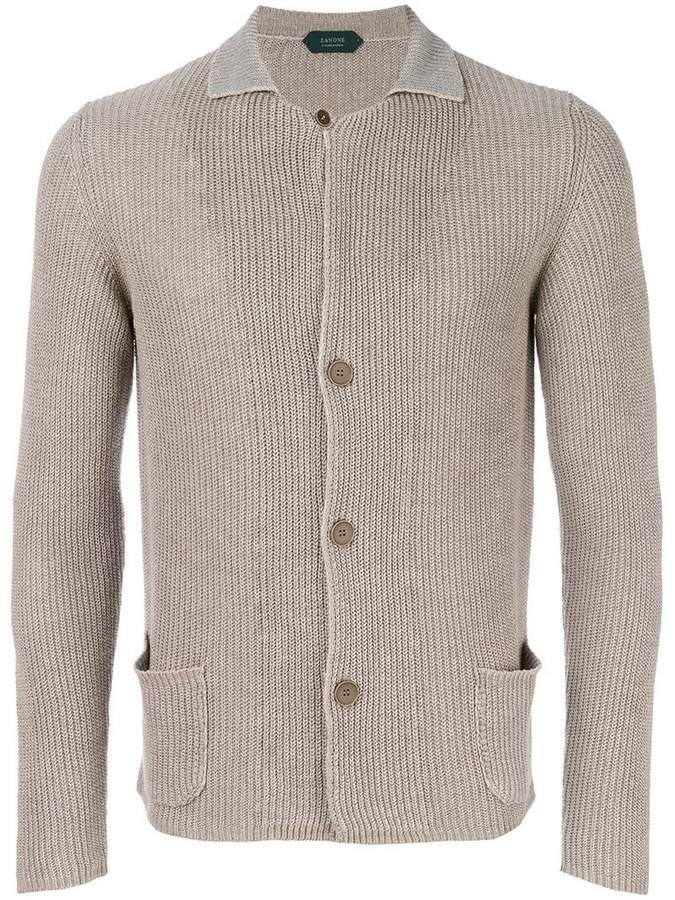 Zanone classic fitted cardigan
