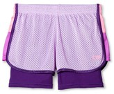 Girls' 2 in 1 Mesh Shorts Lavender Sparkle - C9 Champion®