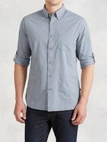 John Varvatos Cotton Rolled Sleeve Shirt