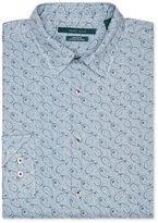 Perry Ellis Tonal Linen Paisley Print Shirt