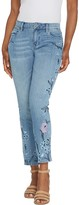 Laurie Felt Classic Denim Embroidered Slim Leg Jeans