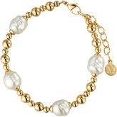 Majorica Blake Beaded Pearl Station Bracelet, White