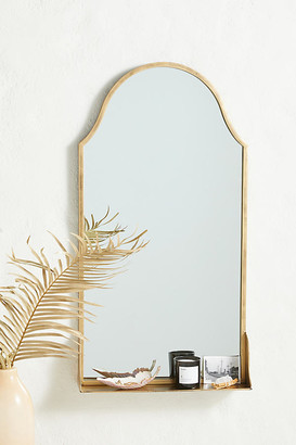 Anthropologie Evey Shelved Mirror By in Brown Size ALL