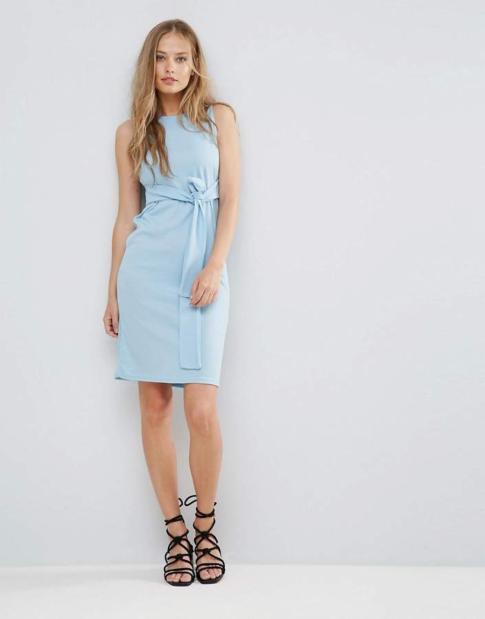 Daisy Street Sleeveless Dress With Tie Waist