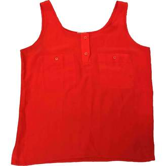 N. Non Signé / Unsigned Non Signe / Unsigned \N Orange Silk Top for Women