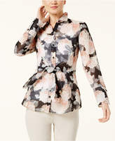 INC International Concepts Sheer Tie-Front Shirt, Created for Macy's