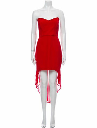 Nicholas Silk Midi Length Dress Red