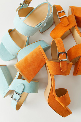 Urban Outfitters Rachel Faux Suede Strappy Platform Heel