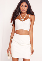 Missguided Strappy Bralet White