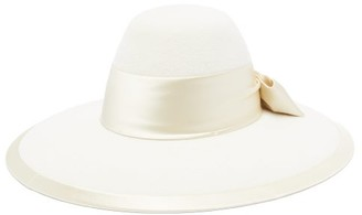 Gucci Aurora Rabbit-felt Fedora Hat - Cream