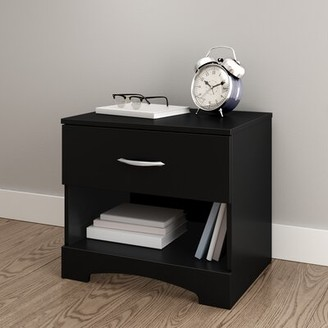 South Shore Step One 1 Drawer Nightstand Color: Black
