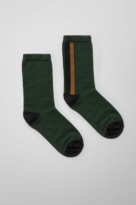 Weekday Noah Colour Blocking Socks - Green