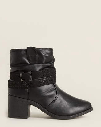 Wanted Black Glendale Slouchy Ankle Booties