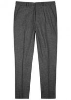 Ami Grey Slim-leg Wool Trousers