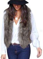 Tonsee® Lady Faux Fur Vest Waistcoat Long Hair Winter Warm Coat Outwear (XL, )