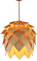 AUCCE® Home Original-Wood Pendant Lamp Hand-Woven Modern Lighting ball Natural Wood Finish