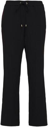 MICHAEL Michael Kors Striped Twill Track Pants