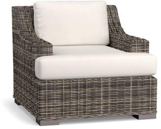 Pottery Barn Slope Arm Lounge Chair Cushion Slipcover