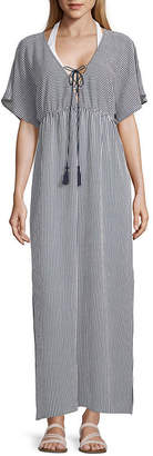 PALISADES BEACH CLUB Palisades Beach Club Striped Dress Swimsuit Cover-Up