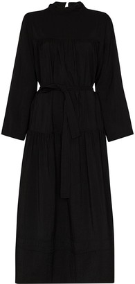 LVIR Reversible Shirring Midi Dress