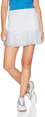 """PGA TOUR Women's 16"""" Solid Knit Skort with Burnt Out Panels"""