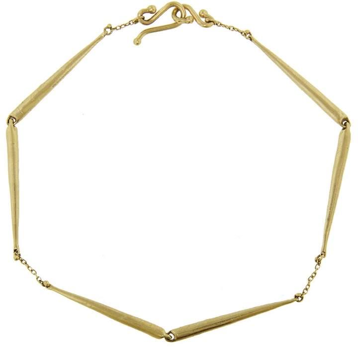 Ten Thousand Things Long Skinny Taper Link Bracelet - Yellow Gold
