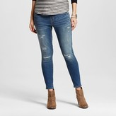 Liz Lange for Target Maternity Over the Belly Medium Wash Distressed Ankle Skinny Jeans - Liz Lange® for Target