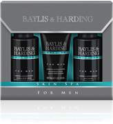 Mens Baylis & Harding Skin Spa For Men Amber & Sandalwood Grooming Trio