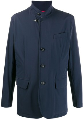 Fay High Standing Collar Buttoned Jacket