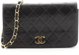 Chanel Full Flap Bag Quilted Lambskin Mini