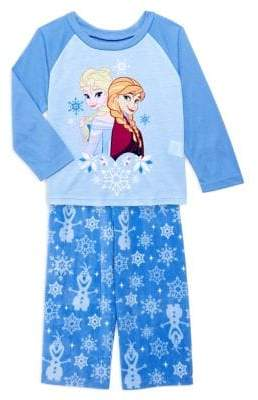AME Sleepwear Little Girl's 2-Piece Frozen Pajama Top & Pants Set