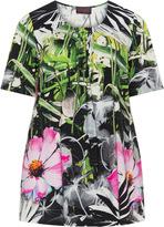 Sempre Piu Plus Size Floral pleated top