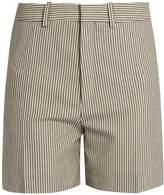 Chloé Striped stretch wool-blend shorts