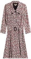 Burberry Belted Silk Shirtdress