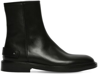 Valentino 30mm Leather Zip-Up Boots