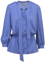 Balenciaga Lavalliere Striped Shirt