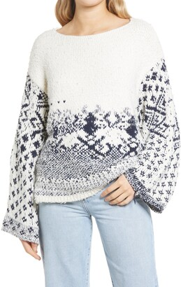 Free People Midnight Beach Knit Pullover