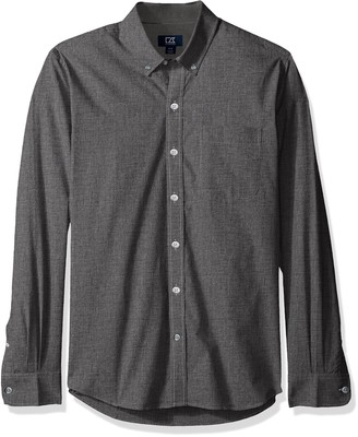 Cutter & Buck Men's Long Sleeve Non-Iron Button Down Collared Shirt