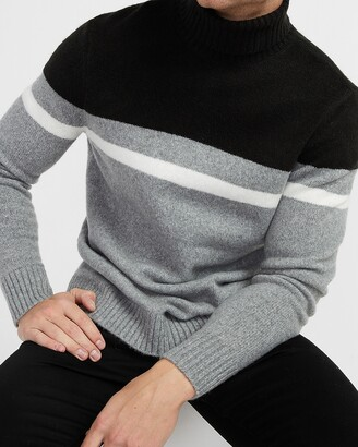 Express Cozy Striped Turtleneck Sweater