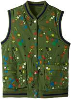 Stella McCartney Rhubarb Paint Splatter Reversible Vest (Toddler/Little Kids/Big Kids)
