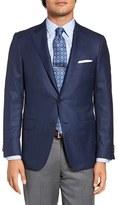 Hickey Freeman Men's Classic Fit Check Wool Sport Coat