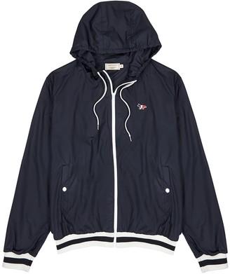 MAISON KITSUNÉ Navy Hooded Shell Jacket