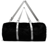 Landlord Black Large Faux-Fur Duffle Bag