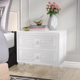 Everly Beck 2 Drawer Nightstand Quinn Color: White
