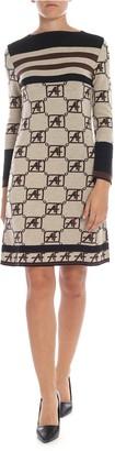 Alberta Ferretti Monogram Motif Dress