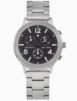 Lucky Brand Rockpoint Silver Multi-Function Watch, 42mm