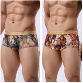 Casualfashion Men's Lingerie Casualfashion Pack of 2 New Men's Soft Smooth Milk Silk Boxer Briefs Underwear