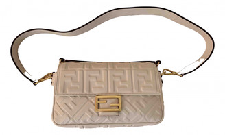Fendi Baguette White Leather Handbags